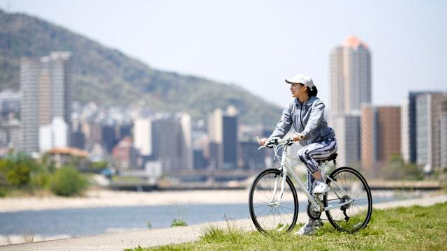 誰でも乗れる「自転車」で、気軽にフィットネス!